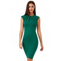 Dámské pouzdrové šaty Helen zelené