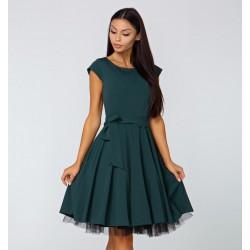 Šaty Valentina tmavě zelené