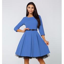 Gotta šaty Arianna s 3/4 rukávem modré