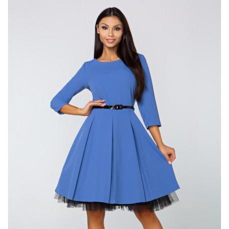 a440c963597 Gotta šaty Arianna s 3 4 rukávem modré
