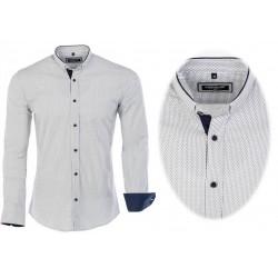 Pánská košile s dlouhým rukávem a vzorem