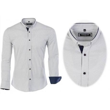 Pánská košile s dlouhým rukávem a vzorem, Velikost L, Barva Modro - bílá CARISMA 8415