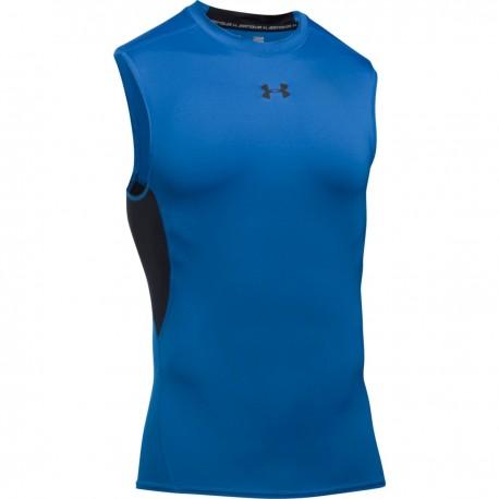 Pánské kompresní triko bez rukávu Under Armour HG modré
