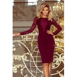 Dámské šaty Elegant vínové