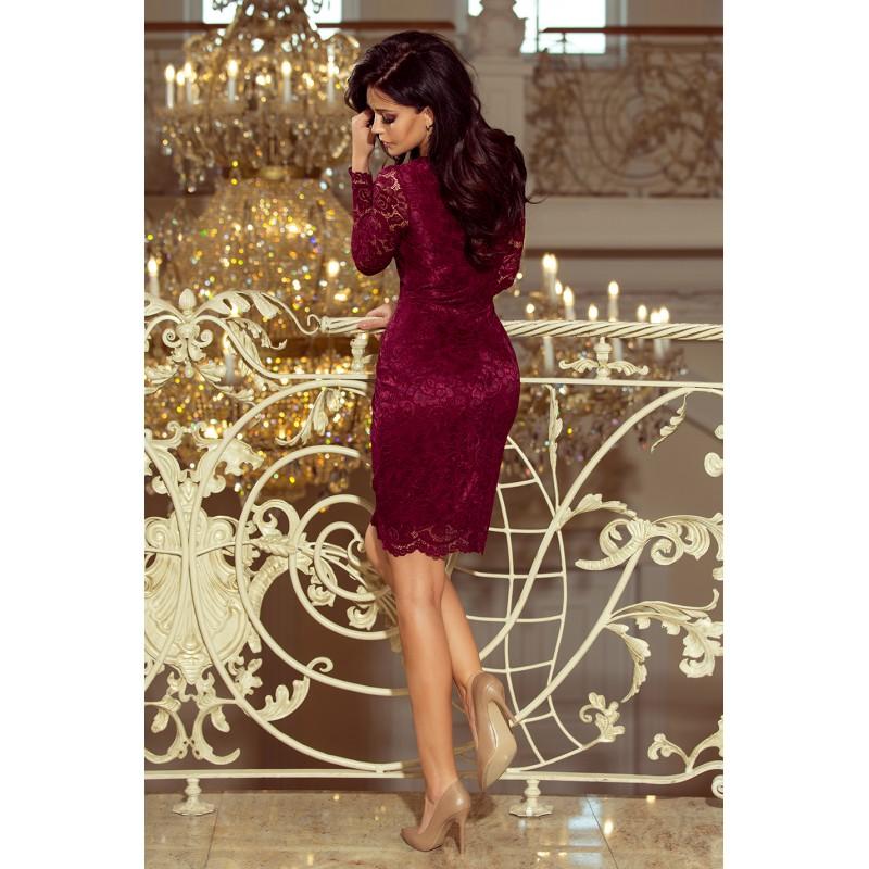 ... Luxusní dámské krajkové šaty Olivia vínové ... 215c9fea8f