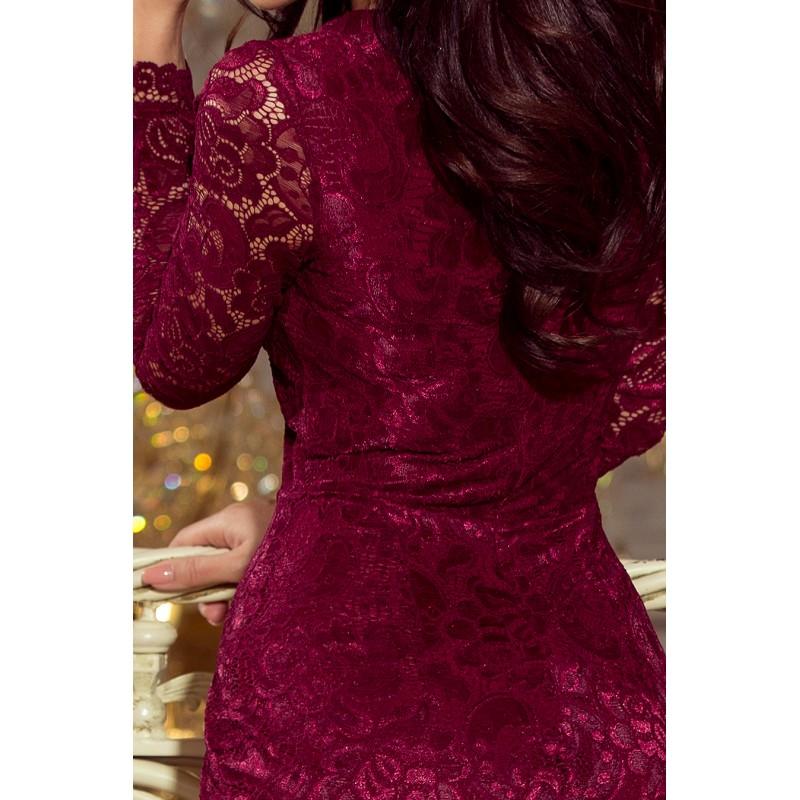 ... Luxusní dámské krajkové šaty Olivia vínové ece4d30e4b