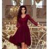 Luxusní dámské šaty Elegance vínové