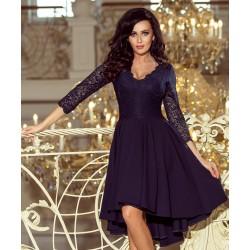 Luxusní dámské šaty Elegance tmavě modré
