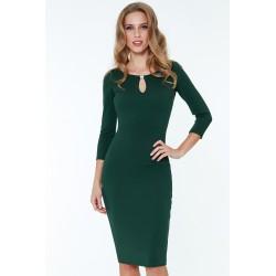 Šaty Alex s 3/4 rukávem zelené