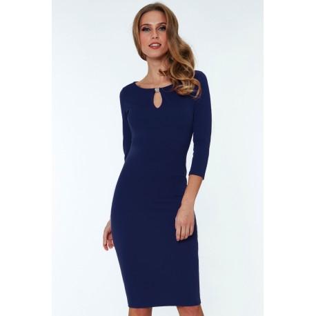 Šaty Alex s 3/4 rukávem modré