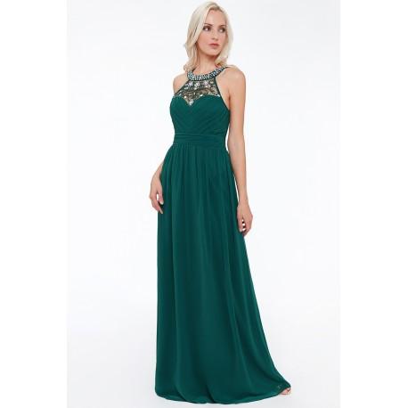 Dámské plesové šaty – zelené - stensport.cz 26c5c6bb2e