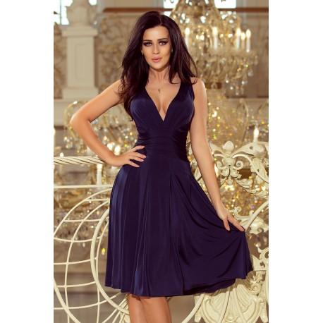 Dámské šaty BERNADETTE tmavě modré