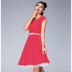 Dámské šaty Swing Red and White