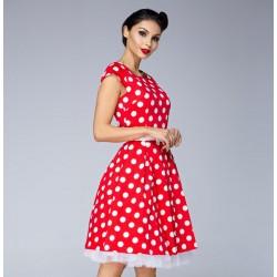 Dámské šaty Sally dots červené