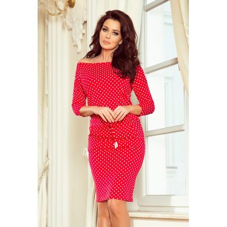 Dámské sportovní šaty červené s puntíky