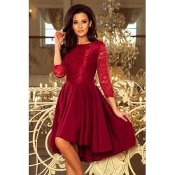 Společenské šaty Caroline vínové