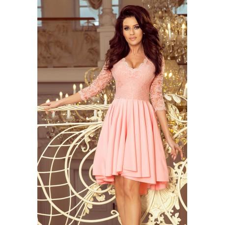 Luxusní šaty Elegance lososové