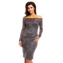 Krajkové šaty AGNES šedé