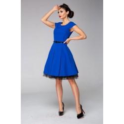 Retro šaty ESTER modré