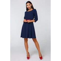 Dámské šaty CHIARA s 3/4 rukávem tmavě modré
