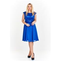 Dámské šaty s krajkou ANNIE modré