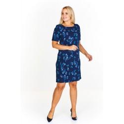 Dámské šaty MILLA tmavě modré se vzorem