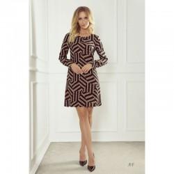 Elegantní vzorované šaty