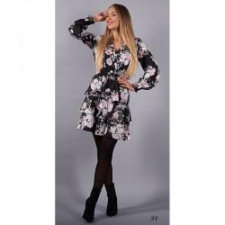 Šaty s květy a volánem