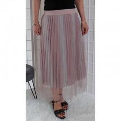 Tylová sukně s blyštivými efekty