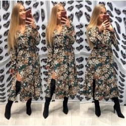Dlouhé šaty se vzorem