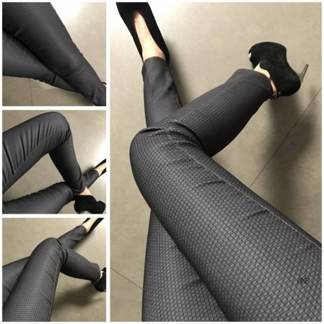 Vzorované dámské kalhoty