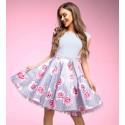 Šedé šaty s květy Gotta