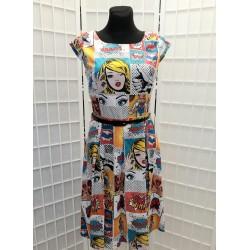 Šaty Gotta prodloužené Komiks