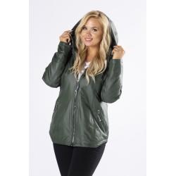Dámská zelená prošívaná bunda