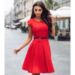 Dámské šaty Gotta s 3/4 rukávem červené