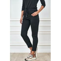 Dámské černé bavlněné kalhoty