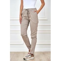 Dámské trendy kalhoty béžové