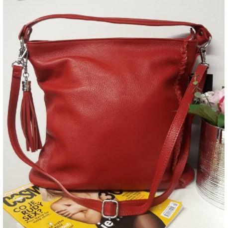 Kožená kabelka – červená