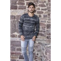 Pánský svetr s žíhaným vzorem 7391