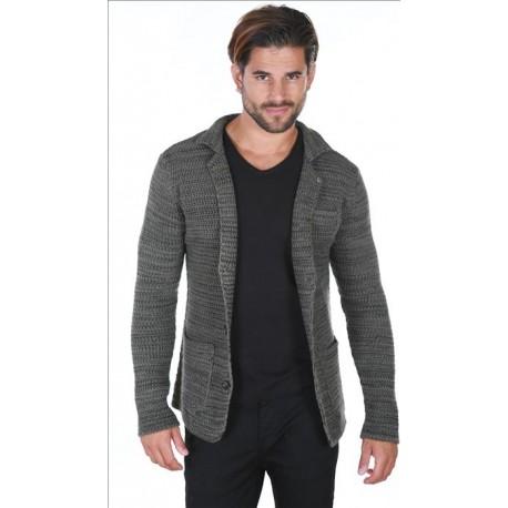 Pánský khaki trendy kardigan, Velikost M, Barva Khaki CARISMA CRSM7517