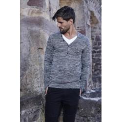 Pánský svetr s žíhaným vzorem CRSM 3256