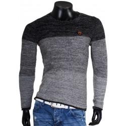 Pánský melírovaný svetr v trojbarevném provedení 7237