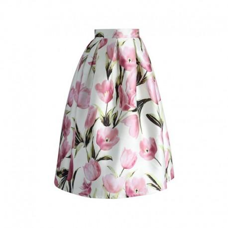 Sukně Chicwish Tulip A-line, Velikost L, Barva Barevná Chicwish