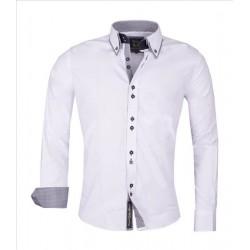 Pánská košile dlouhým rukávem Carisma bílá