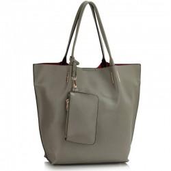 Krásná kabelka šedá LS442
