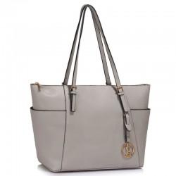 Elegantní kabelka šedá LS350