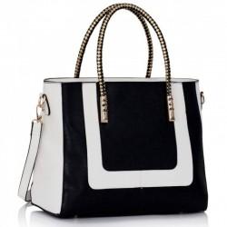Dámská kabelka Two-Tone černo - bílá