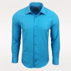 Pánská košile s dlouhým rukávem Rusty Neal tyrkysová