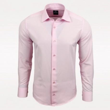 Pánská košile s dlouhým rukávem Rusty Neal světle růžová